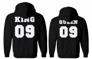 BLUZY DLA PAR z kapturem QUEEN09 & KING09